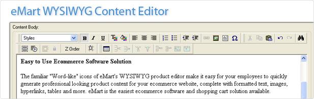 eMart's Edit Control Panel